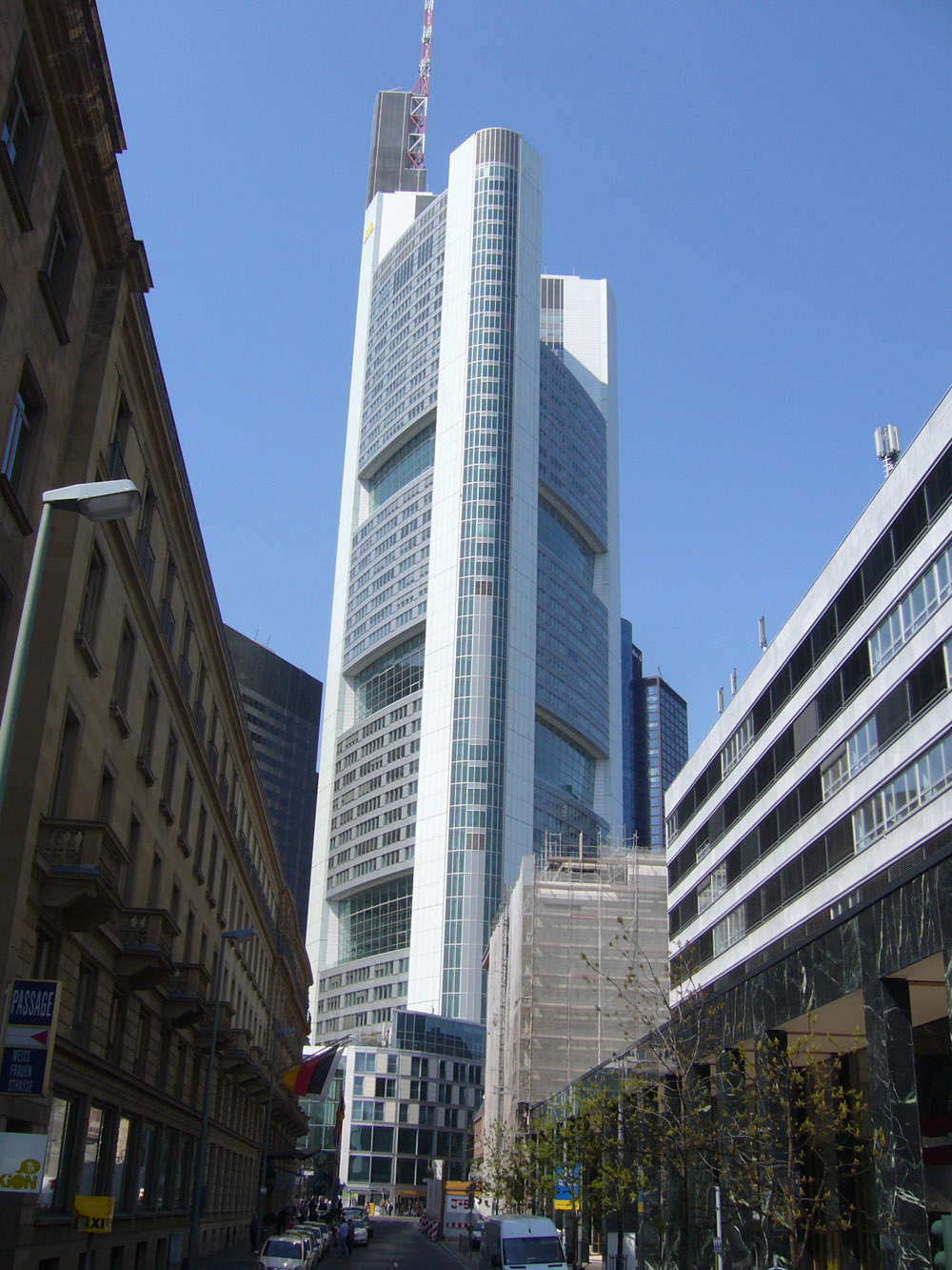 Frankfurt Mitte Financial District Taunus Anlage