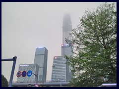 It is often hazy in Shenzhen because of pollution,  a big problem in all large Chinese cities.