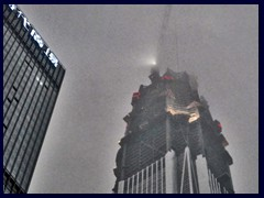 Pingan International Finance Centre's top. It is often hazy and thus becoms dark very fast in Shenzhen.
