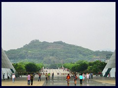 Looking towards the enormous Lianhuashan Park and the northern outskirts from Civic Center, Futian district.