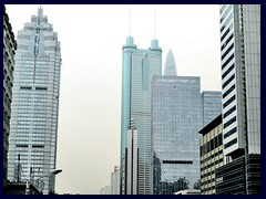Some of the tallest buildings in Shenzhen, seen from Shennan: World Finance Center, Shun Hing Square, KK100.