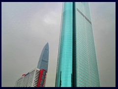 Shun Hing Square (384m to the spires, 325 to the floor) was Asia's tallest building when completed in 1996. Now it is only 3rd tallest in Shenzhen (KK100, 2nd tallest is in the background). It is also called Di Wang Commercial Building has 69 floors and a high observation deck that we visited. It was designed by K.Y. Cheung Design Associates and is China's tallest steel skyscraper. A 5-storey mall and a 35-storey annex are included in the complex. It is situated along Shennan East Road.