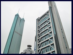 Shenzhen Special Zone Press Tower from 1998 and Shun Hing Square from 1996.
