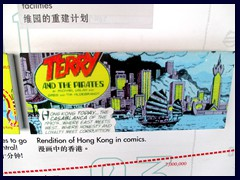 Old comics strip about HK on display in Shun Hing Square.