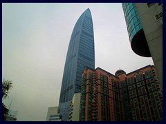 KK100 (left) and Shun Hing Square (right).