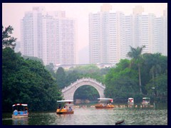 Lizhi Park is also famous for its traditional Chinese bridges.