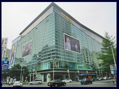 King Glory Plaza, a modern multi-storey shopping mall opposite our hotel.
