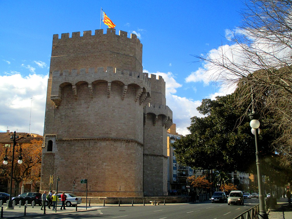 Valencia - Torres de Serranos, Serrano Towers, skylines and views
