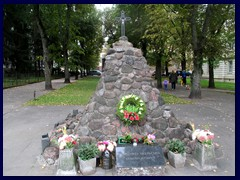 Genocide Monument outside the NKVD Palace/Genocide Museum. Intersection Auku street/Gedinimo Avenue.