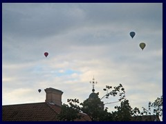 Air balloons above Naujamiestis (New Town).